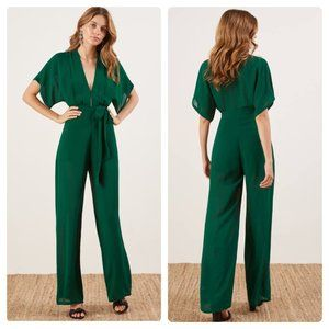 NWT Reformation Lemongrass Jumpsuit in Emerald